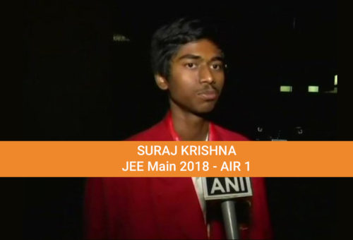 JEE Advanced Result 2018 - JEE Main Topper Suraj Krishna