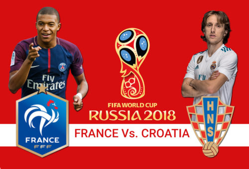 FIFA World Cup 2018 : Finals Between France And Croatia